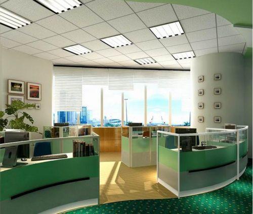 开放式办公室天花板